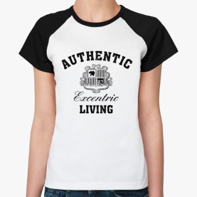 Женская футболка реглан Дизайн