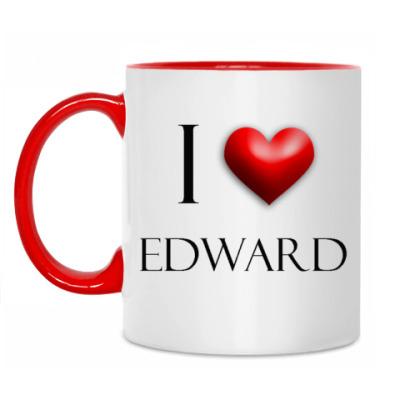 Кружка 'Я люблю Эдварда'