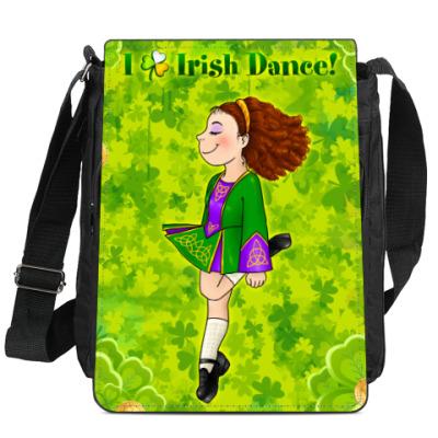 Сумка-планшет I love Irish Dance!