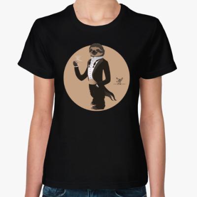 Женская футболка Animal Fashion: S is for Sloth in Smoking