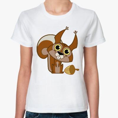 Классическая футболка Белочка