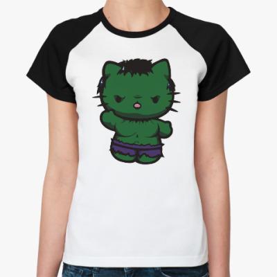 Женская футболка реглан Китти Халк