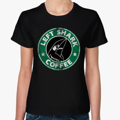 Женская футболка Левая Акула