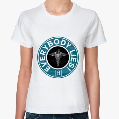 Классическая футболка lies!