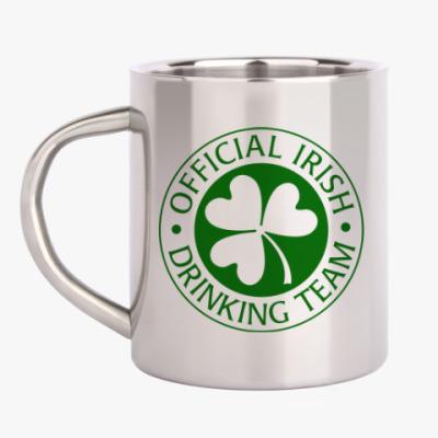 Кружка металлическая Official Irish drinking team