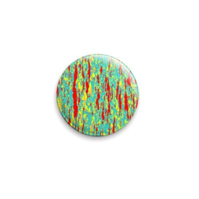 Значок 25мм Фрактальные кристаллы