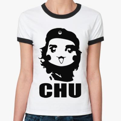 Женская футболка Ringer-T Чу Гевара