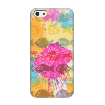 Чехол для iPhone 5/5s Crazy Cat