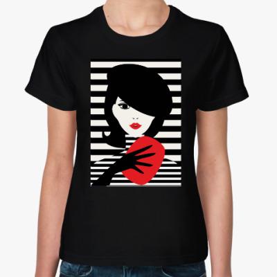 Женская футболка Француженка, иллюстрация