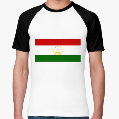 Футболка реглан Флаг Таджикистана