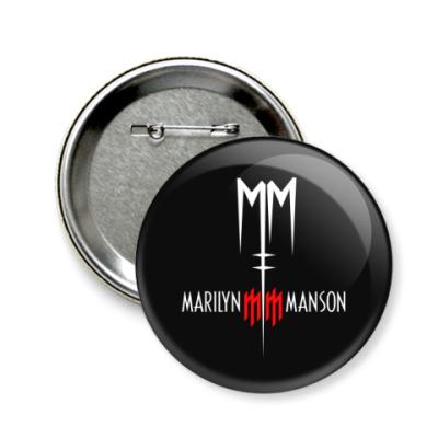Значок 58мм Marilyn Manson