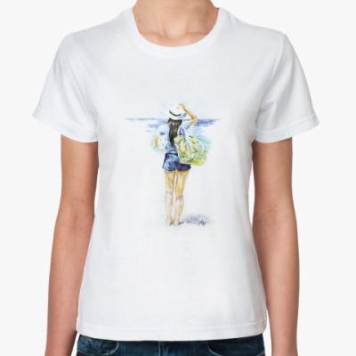 Классическая футболка У моря