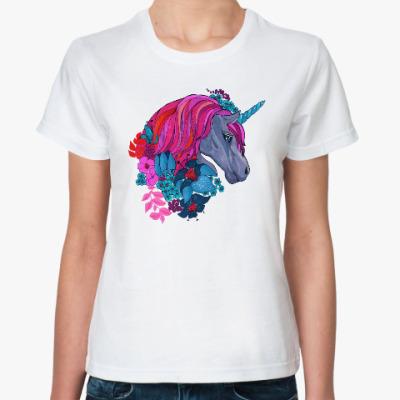 Классическая футболка Единорог в цветах