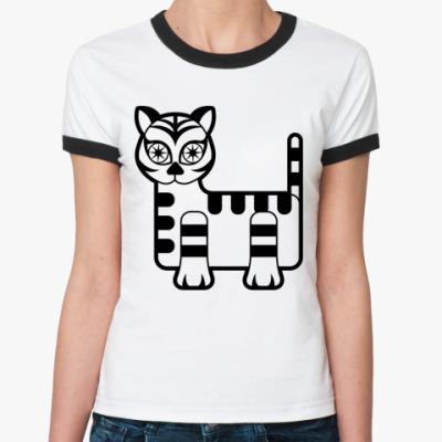 Женская футболка Ringer-T кошечка