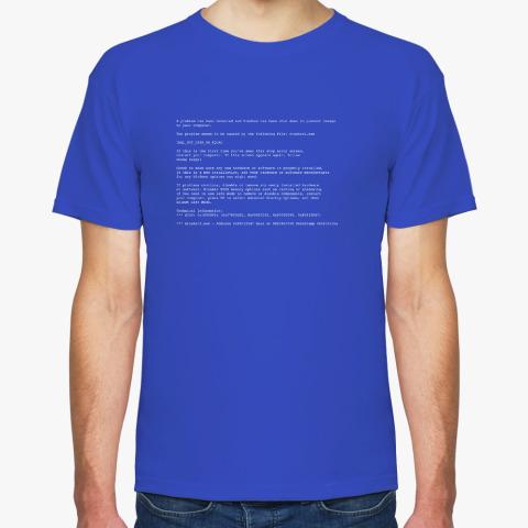 6c7de5cd12a Футболка Синий экран смерти for geeks купить на Printdirect.ru ...