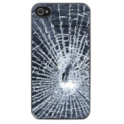Чехол для iPhone Разбитое стекло