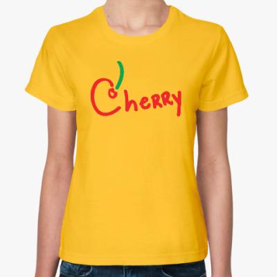 Женская футболка Вишенка