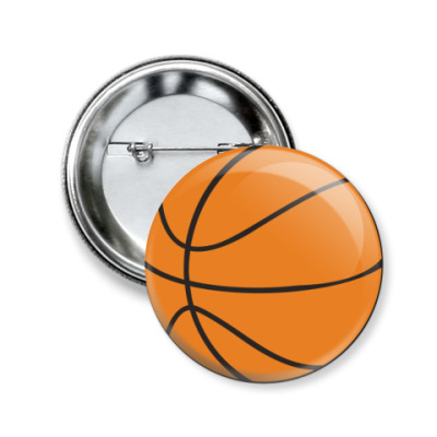 Значок 50мм  50 мм Баскетбол