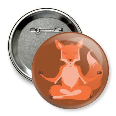 Значок 75мм Animal Zen: F is for Fox