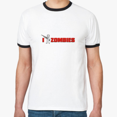 Футболка Ringer-T  'I Kill zombies'