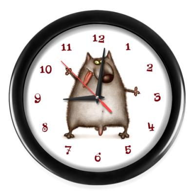 Настенные часы Волчишка