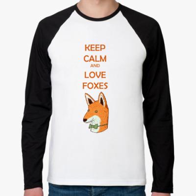Футболка реглан с длинным рукавом Любовь к лисичкам