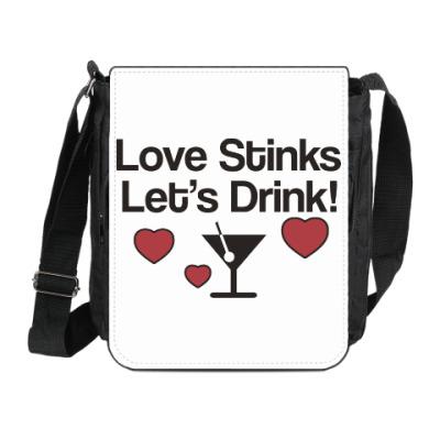 Сумка на плечо (мини-планшет) Love Stinks