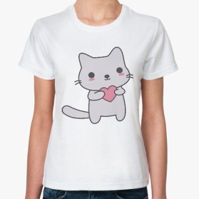 Классическая футболка Котенок