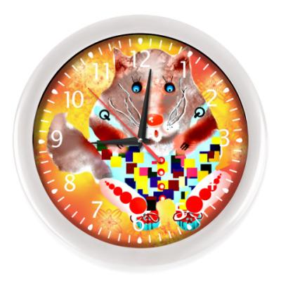 Настенные часы Солнечный кот