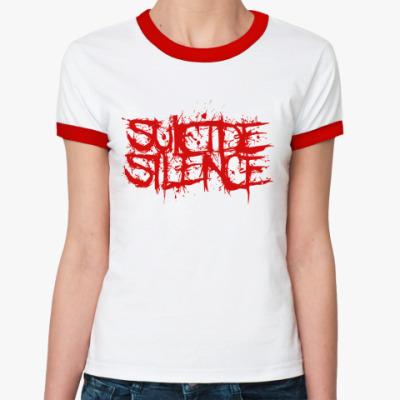 Женская футболка Ringer-T Suicide Silence  Жен