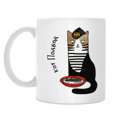 Кружка кот Подвод из серии 'Military cats'