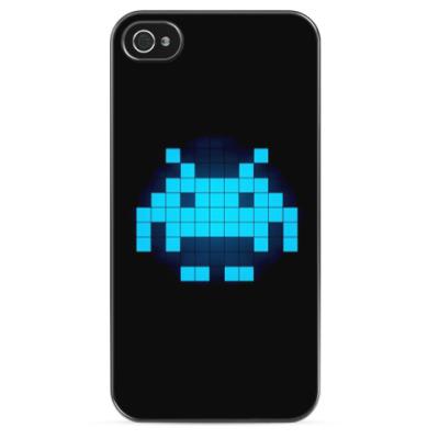 Чехол для iPhone 8bit alien