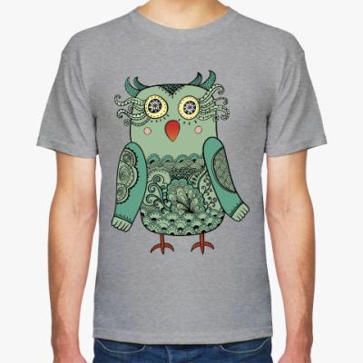 Футболка Зеленая лесная совушка
