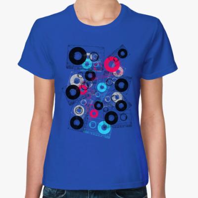 Женская футболка Кассетный микс