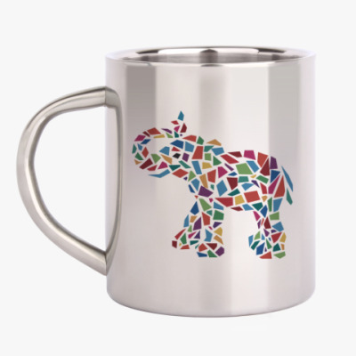 Кружка металлическая Слон - мозаика