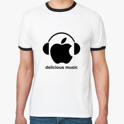 Футболка Ringer-T Delicious music