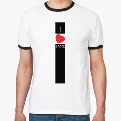 Футболка Ringer-T 'I love J-ROCK'