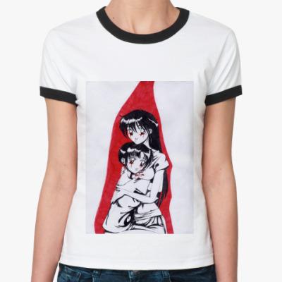 Женская футболка Ringer-T   'Вампиры'