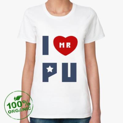 Женская футболка из органик-хлопка Путин Родина Россия