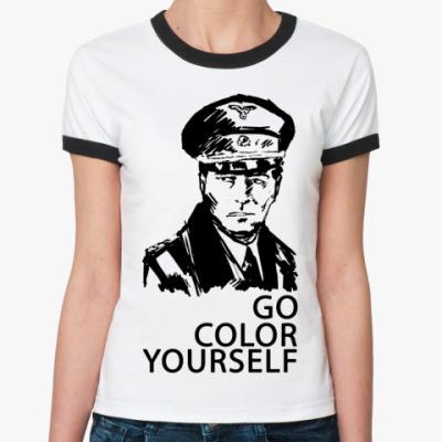 Женская футболка Ringer-T   () Штирлиц