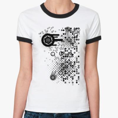 Женская футболка Ringer-T Круги и точки