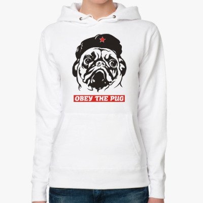 Женская толстовка худи Obey the doggy