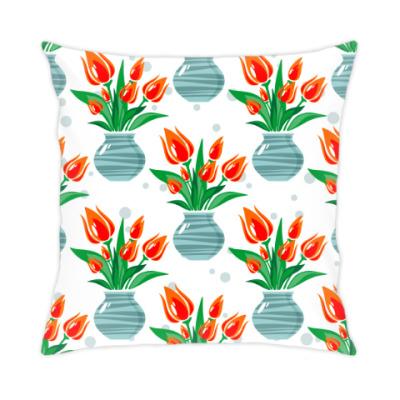 Подушка Тюльпаны для любимой