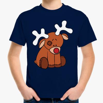 Детская футболка Новогодний олень Teddy