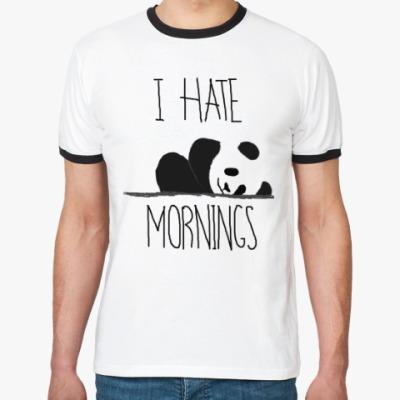 Футболка Ringer-T Я ненавижу утро