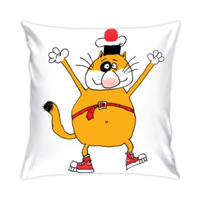 Подушка кот Помпон весёлый