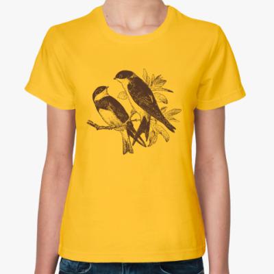 Женская футболка Bird Птица