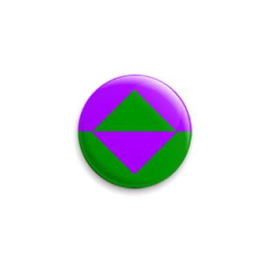 Значок 25мм  Reboot, сине-зелёный