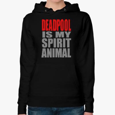 Женская толстовка худи Deadpool