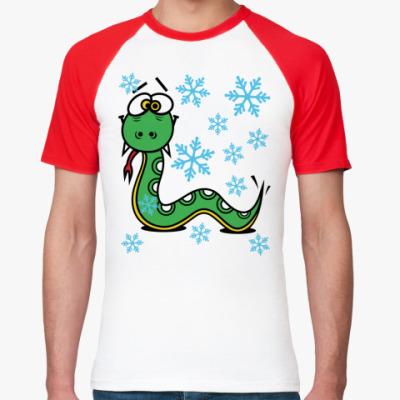Футболка реглан Новогодняя змея